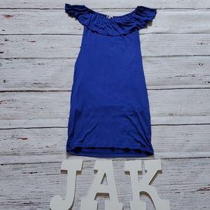 🆕️👗 VELVET TORCH BLUE CASUAL DRESS